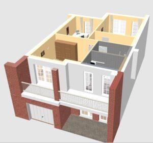 Parduodamas 4 kambarių butas sublokuotame moderniame 4 butų name