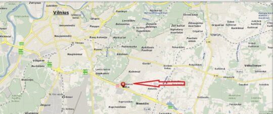 Parduodamas 1,57 ha sklypas Minsko pl. Vilniuje